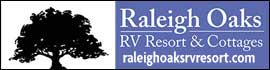 logo for Raleigh Oaks RV Resort & Cottages