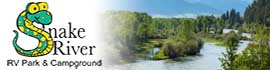 logo for Snake River RV Park and Campground