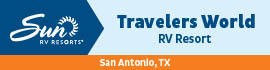 logo for Travelers World RV Resort