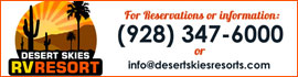 logo for Desert Skies RV Resort