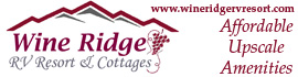 logo for Wine Ridge RV Resort & Cottages