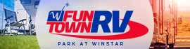 logo for Fun Town RV Park at WinStar
