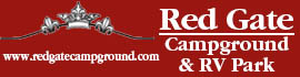 logo for Red Gate Campground & RV Park