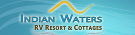 logo for Indian Waters RV Resort & Cottages