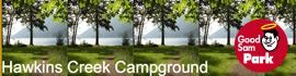 logo for Hawkins Creek Campground