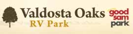 logo for Valdosta Oaks RV Park
