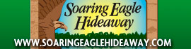 logo for Soaring Eagle Hideaway RV Park