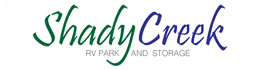 logo for Shady Creek RV Park and Storage