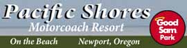 logo for Pacific Shores Motorcoach Resort