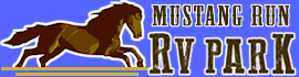 logo for Mustang Run RV Park