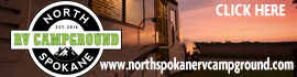 logo for North Spokane RV Campground