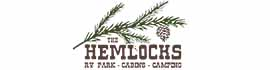 logo for The Hemlocks RV and Lodging