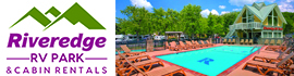 logo for Riveredge RV Park & Cabin Rentals