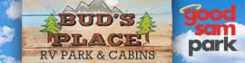 logo for Bud's Place RV Park & Cabins