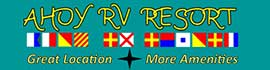 logo for Ahoy RV Resort