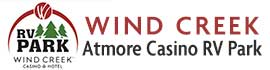 logo for Wind Creek Atmore Casino RV Park