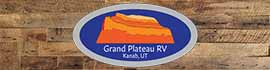 logo for Grand Plateau RV Resort at Kanab