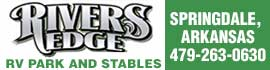 logo for River's Edge RV Park and Stables