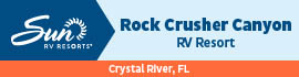 logo for Rock Crusher Canyon RV Resort