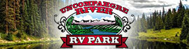 logo for Uncompahgre River Adult RV Park