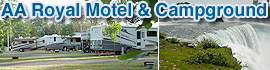 logo for AA Royal Motel & Campground