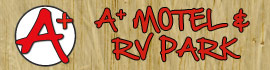 logo for A+ Motel & RV Park