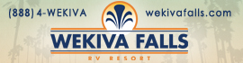 logo for Wekiva Falls RV Resort