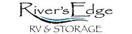 logo for River's Edge RV & Cabins Resort