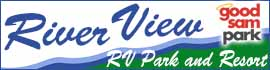 logo for River View RV Park and Resort