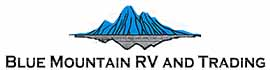 logo for Blue Mountain RV and Trading