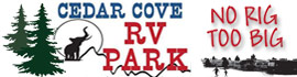 logo for Cedar Cove RV Park