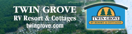logo for Twin Grove RV Resort & Cottages