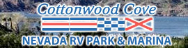 logo for Cottonwood Cove Nevada RV Park & Marina