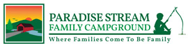 logo for Paradise Stream Family Campground