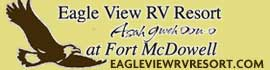 logo for Eagle View RV Resort Asah Gweh Oou-o At Fort McDowell