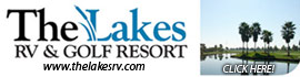 logo for The Lakes RV & Golf Resort