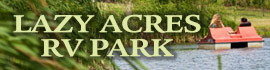logo for Lazy Acres RV Park