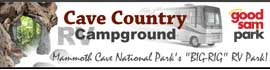 logo for Cave Country RV Campground