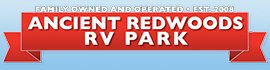 logo for Ancient Redwoods RV Park
