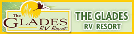 logo for The Glades RV Resort