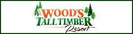 logo for Wood's Tall Timber Resort