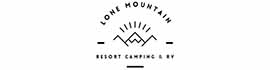 logo for Lone Mountain RV Resort and Tipi Campground