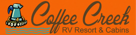 logo for Coffee Creek RV Resort & Cabins