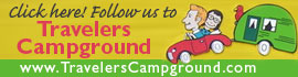 logo for Travelers Campground