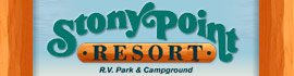logo for Stony Point Resort RV Park & Campground