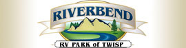 logo for Riverbend RV Park of Twisp