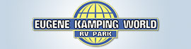 logo for Eugene Kamping World RV Park
