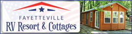 logo for Fayetteville RV Resort & Cottages