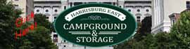 logo for Harrisburg East Campground