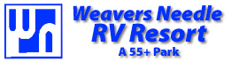 logo for Weaver's Needle RV Resort